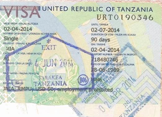 Visa requirements for Tanzania